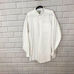 LL Bean White Dress Shirt